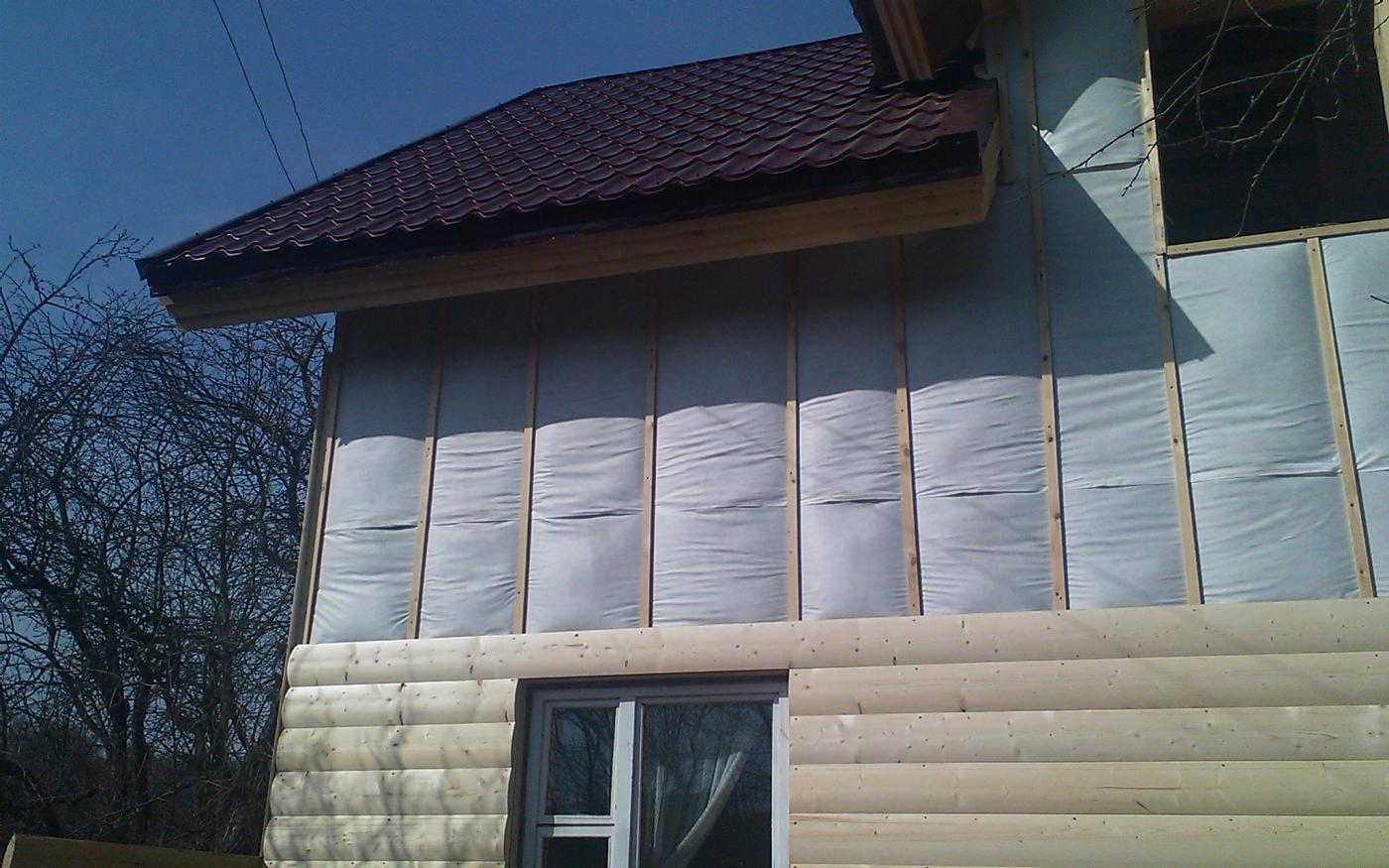 Утеплить деревянный дом снаружи под сайдинг